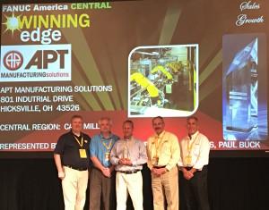 APT Recipient of FANUC Growth Award - APT Manufacturing