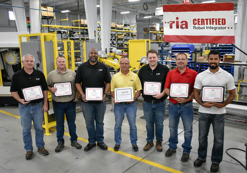 APT Employees holding RIA Certified Robot Integrator Certificates