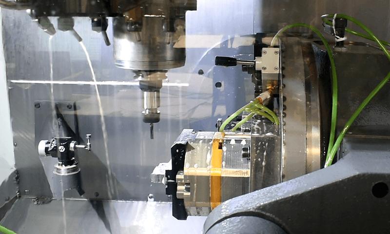 Inside of a CNC